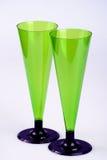 Dois vidros de vinho altos Imagem de Stock Royalty Free