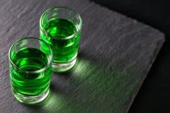 Dois vidros do absinto Imagem de Stock