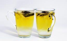 Dois vidros do chá verde Fotos de Stock