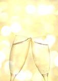 Dois vidros do champanhe Imagens de Stock Royalty Free