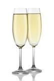 Dois vidros do champanhe. fotos de stock