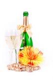 Dois vidros do champanhe Imagens de Stock