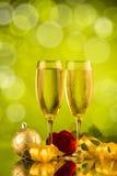 Dois vidros do champanhe Fotos de Stock