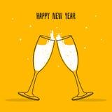 Dois vidros do champanhe Fotografia de Stock