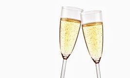 Dois vidros do champanhe sparkling Foto de Stock Royalty Free