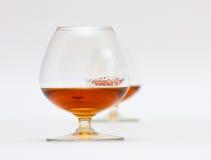 Dois vidros do conhaque Foto de Stock
