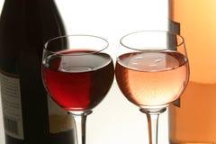 Dois vidros do vinho Foto de Stock