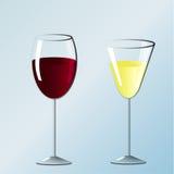Dois vidros do vinho Imagem de Stock Royalty Free