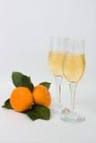 Dois vidros elegantes do champanhe Fotos de Stock