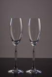 Dois vidros vazios do champanhe Imagens de Stock Royalty Free