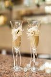Dois vidros wedding Close-up Imagem de Stock Royalty Free