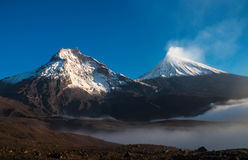 Dois vulcões Foto de Stock Royalty Free