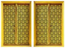 Dois Windows dourado. Imagem de Stock Royalty Free