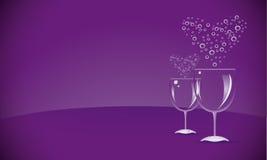 Dois WineGlasses Imagem de Stock