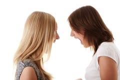 Dois womans irritados que shouting Imagens de Stock Royalty Free