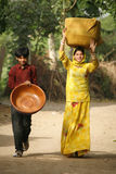 Dois younsters novos de Rajasthani fotografia de stock royalty free