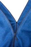 Dois zippers no calças de brim Imagem de Stock Royalty Free
