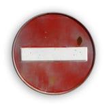 dojazdowego interdiction drogowy znak obrazy royalty free