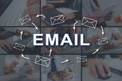 dojazdowy guzika pojęcia email szybki zdjęcia royalty free