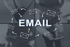 dojazdowy guzika pojęcia email szybki Obraz Royalty Free