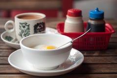 Dojna herbata Kłusujący Jajeczny Śniadaniowy posiłek Obrazy Royalty Free