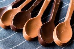 Dojne i Ciemne Czekoladowe łyżki Fotografia Stock