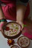 Dojnego i ryżowego pudding/ki chawal kheer Fotografia Royalty Free