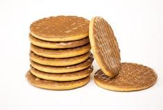 Dojnej czekolady digestives Zdjęcie Stock