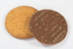 Dojnej czekolady digestives Zdjęcie Royalty Free