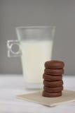 Dojni i mali czekoladowi donuts Obraz Royalty Free