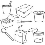 dojny jogurt ilustracja wektor