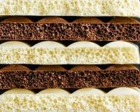 Dojny porowaty czekoladowy zbliżenie Obraz Royalty Free