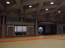 Dojo giapponese autentico fotografia stock
