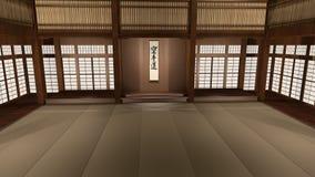 Dojo japonais traditionnel de karaté illustration libre de droits