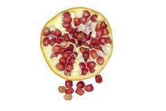 Dojrzała granatowiec owoc odizolowywająca na białej tło wycinance Obrazy Royalty Free