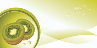 Dojrzała kiwi owoc na abstrakcjonistycznym tle Obraz Stock