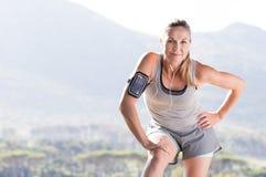 Dojrzała kobieta jogging obraz royalty free