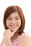 dojrzała kobieta uśmiechnięta zdjęcia stock