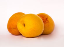 Dojrzała pomarańczowa morela odizolowywa Fotografia Royalty Free