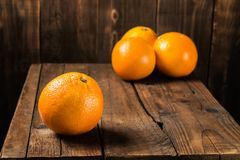 dojrzałe świeże pomarańcze Obraz Stock