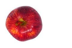 Dojrzałe czerwone jabłczane owoc odizolowywać Zdjęcia Royalty Free