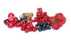 Dojrzałe jagody na białym tle Obraz Stock