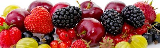 Dojrzałe owoc odizolowywać na bielu Zdjęcia Stock