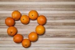 Dojrzałe pomarańcze w formie serca Obraz Royalty Free