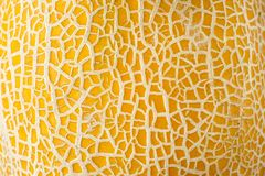 Dojrzały żółty melonowy tekstury tło obrazy stock