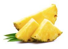 Dojrzały ananas z liściem obraz stock