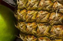 Dojrzały ananas, zakończenie zdjęcie stock