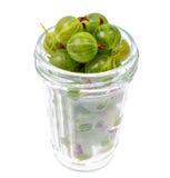 Dojrzały, cukierki zielony agrest, odizolowywający na białym tle Obraz Royalty Free