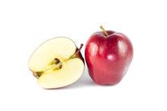 Dojrzały czerwony jabłko odizolowywający zdjęcie royalty free