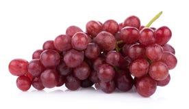 Dojrzały czerwony winogrono odizolowywający na białym tle obraz stock